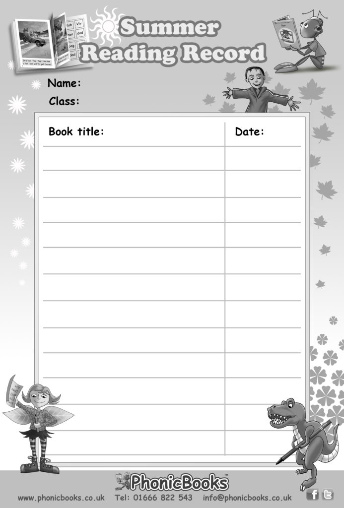 Free-printable-reading-record-for-younger-children