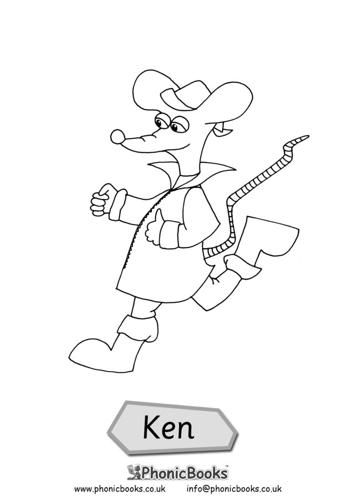 Early Years Colouring Page Ken