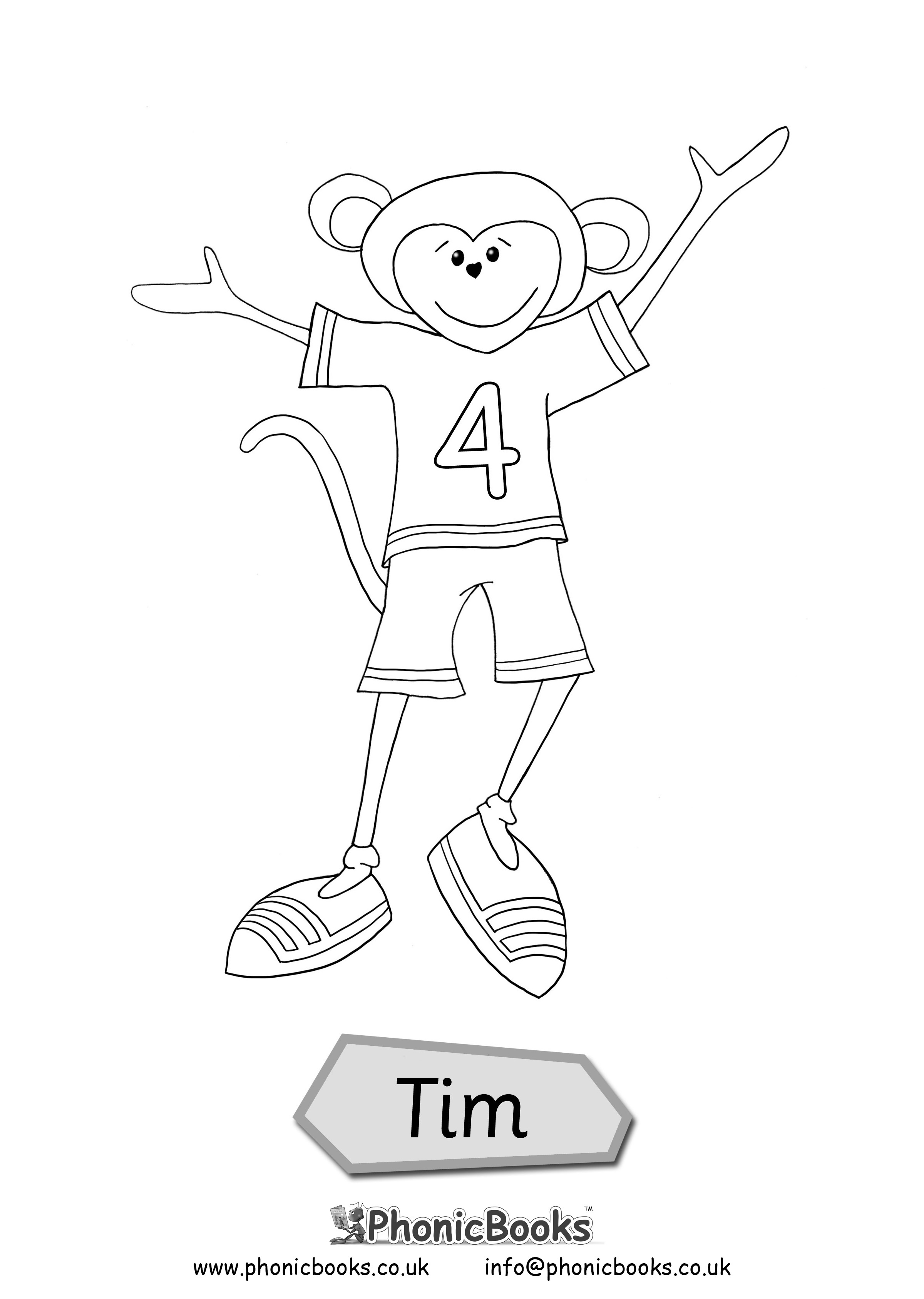 Early Years Colouring Page Tim