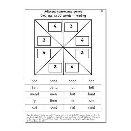 Spinner Games Book 1 Workbook, page sample